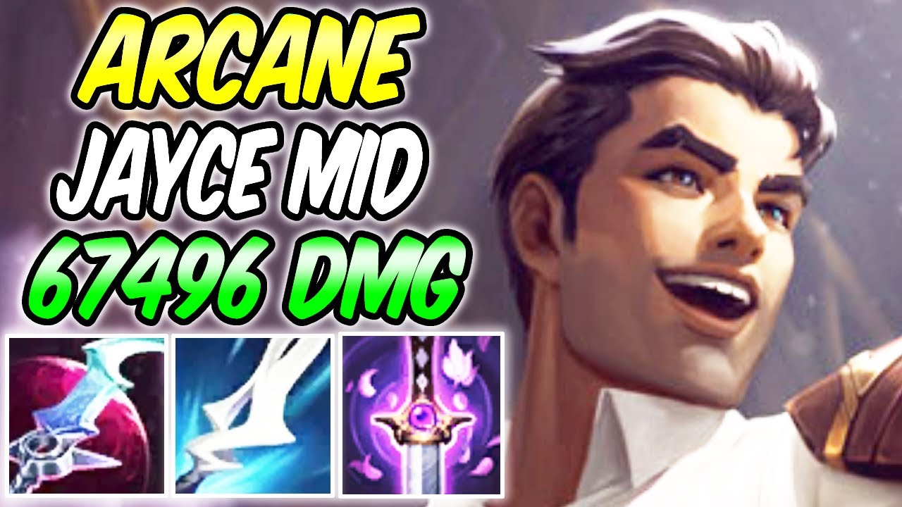 ARCANE JAYCE MID - NEW SKIN FULL AD LETHALITY GAMEPLAY | Best Build & Runes | League of Legends