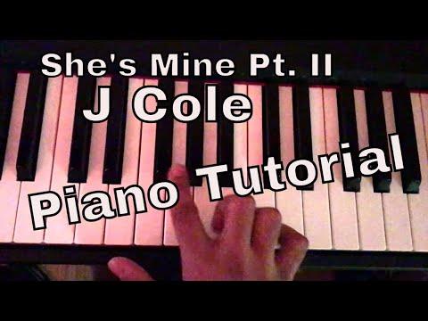 She's Mine Pt. II Piano Tutorial - J Cole