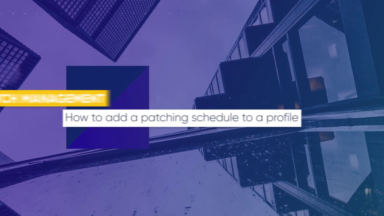 How to add a patching schedule to a profile | ITarian Patch Management