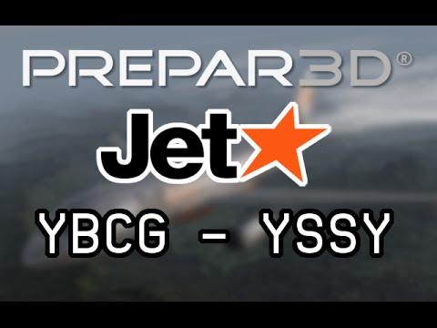 P3D - Full VATSIM Flight from Gold Coast (YBCG) to Sydney (YSSY) as JST401 w/ Airbus X!