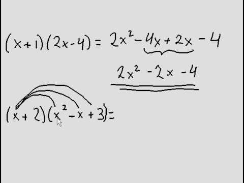 Multiplying Polynomials Two Simple Examples Easy Youtube