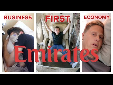 EMIRATES FLIGHT COMPARISON: First Class vs Business vs Econo