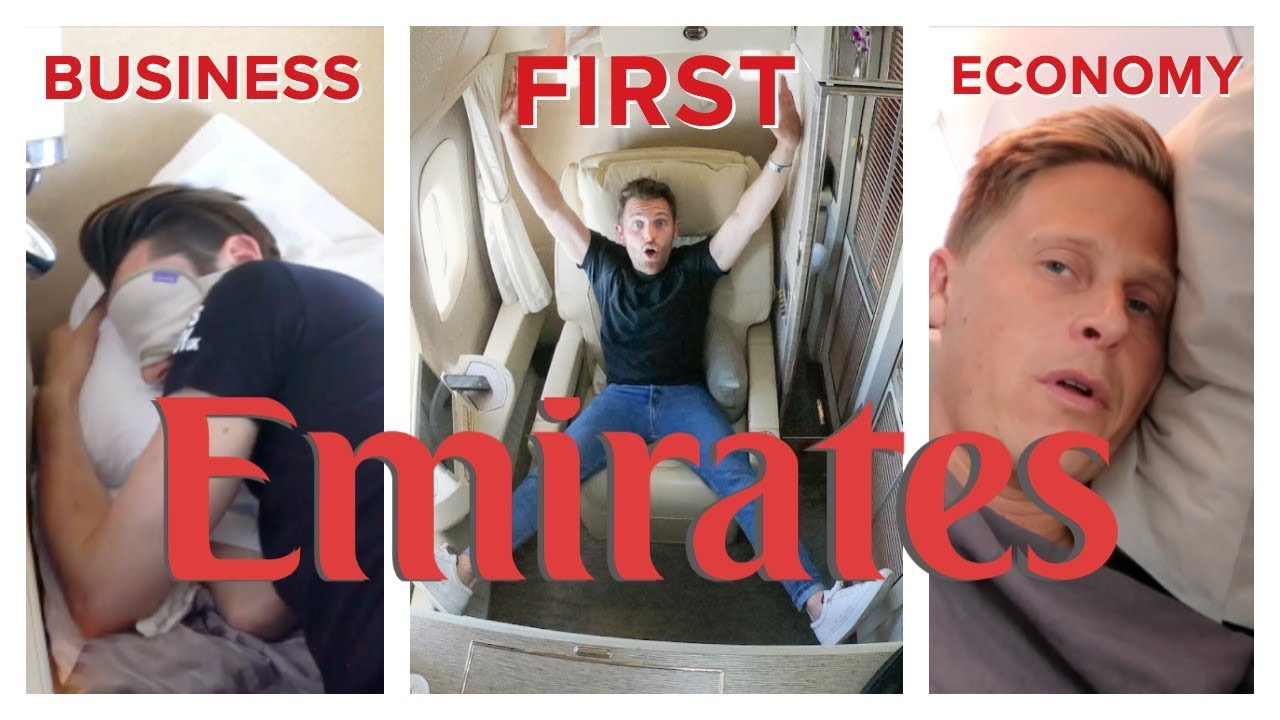 Emirates Flight Comparison First Class Vs Business Vs Economy Youtube