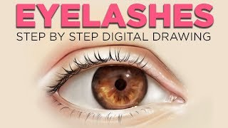 HOW TO DRAW EYELASHES - Drawing eyelashes digital in Procreate