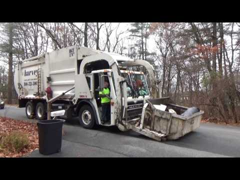 Harvey Waste And Recycling Services 128 ~ Mack LEU McNeilus Front Loader Pt 2