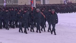 Парад посвященный 75 летию снятия блокады Ленинграда СПб УГПС МЧС России