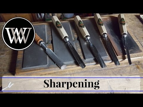 How to Sharpen a V Tool or Carving Gouge  - Hand Tool Woodworking