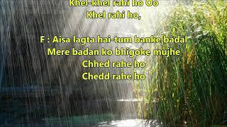 Bheegi Bheegi Raaton Main - Ajnabee - Full karaoke scrolling lyrics