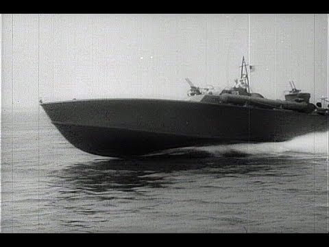 HD Historic Archival Stock Footage WWII - U.S. Navy Gets More Torpedo Boats