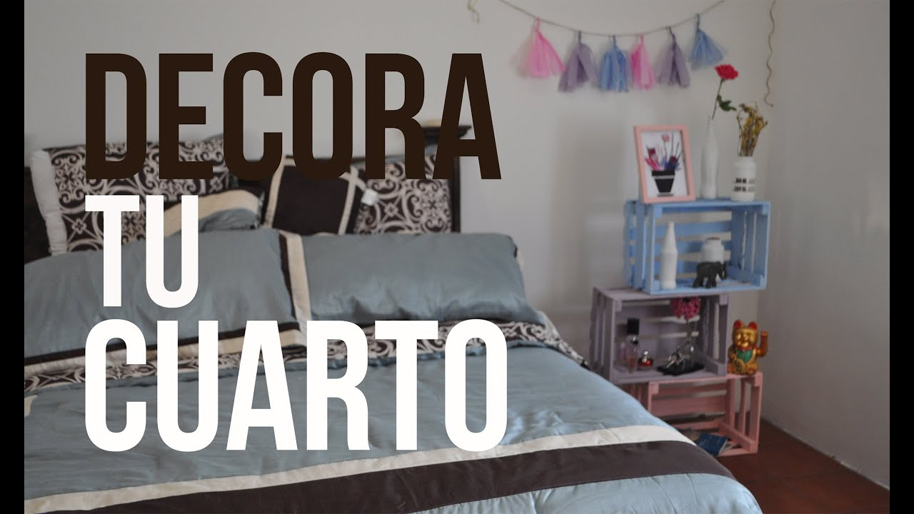 Decora tu cuarto f cil bonito y barato youtube for Ideas para decorar habitacion hippie