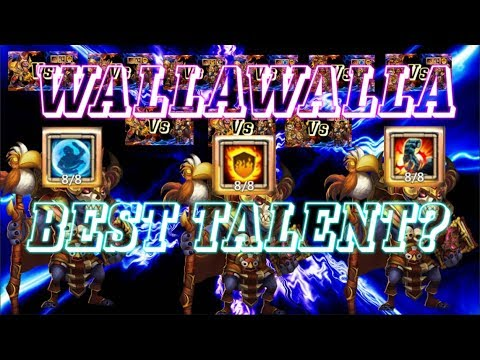 WALLAWALLA BEST TALENT STONE SKIN, BULWARK OR FLAME GUARD? Castle Clash