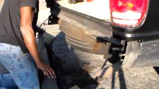 how to replace the rear bumper on a 98 ford exploer
