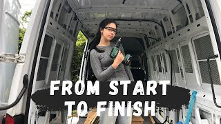 FULL VAN CONVERSION in just 13 minutes TIME LAPSE | with no previous experience!