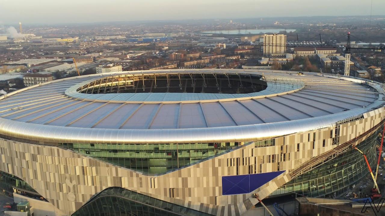 11 12 18 Tottenham Hotspur New Stadium 360 Birds Eye View Youtube