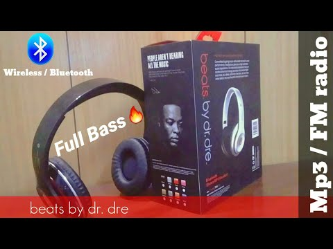 Unboxing of Wireless Bluetooth Headphones beats by dr. dre