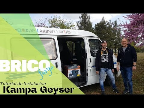 Tutorial Paso A Paso De Instalación Del Calentador De Agua Para Camper Kampa Geyser