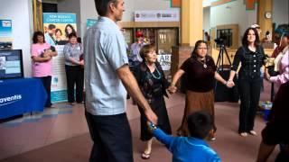 Navajo people, dancers and Bike for HOPE