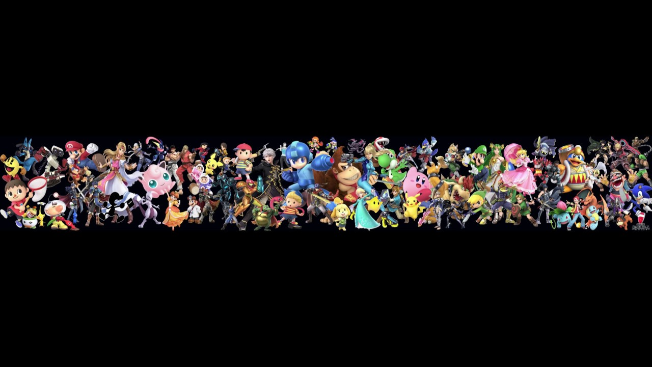Super Smash Bros Ultimate All Fighters Desktop Wallpaper Youtube