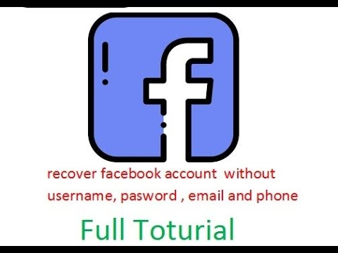how to recover facebook id without username pasword and