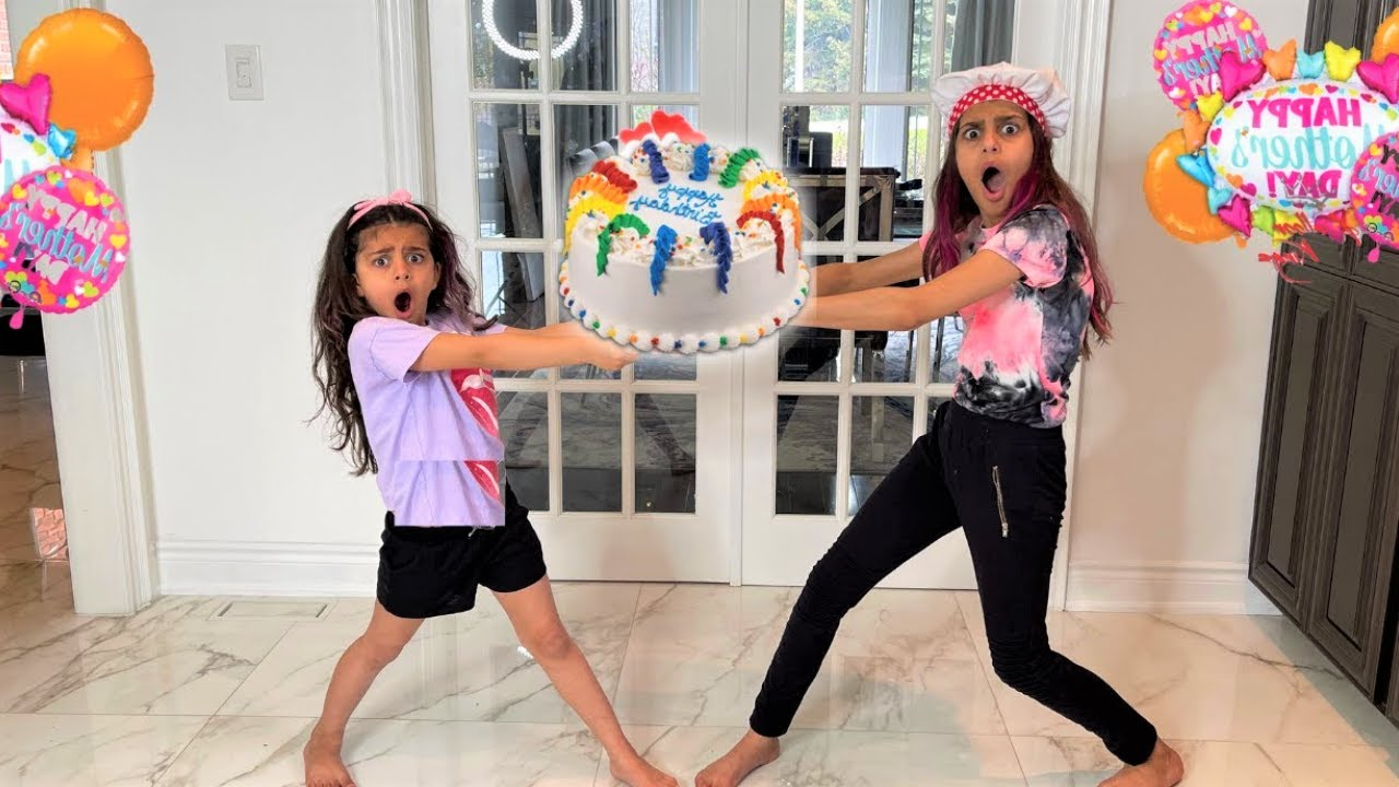 Happy Birthday Cake Surprise for mom with Deema and Sally