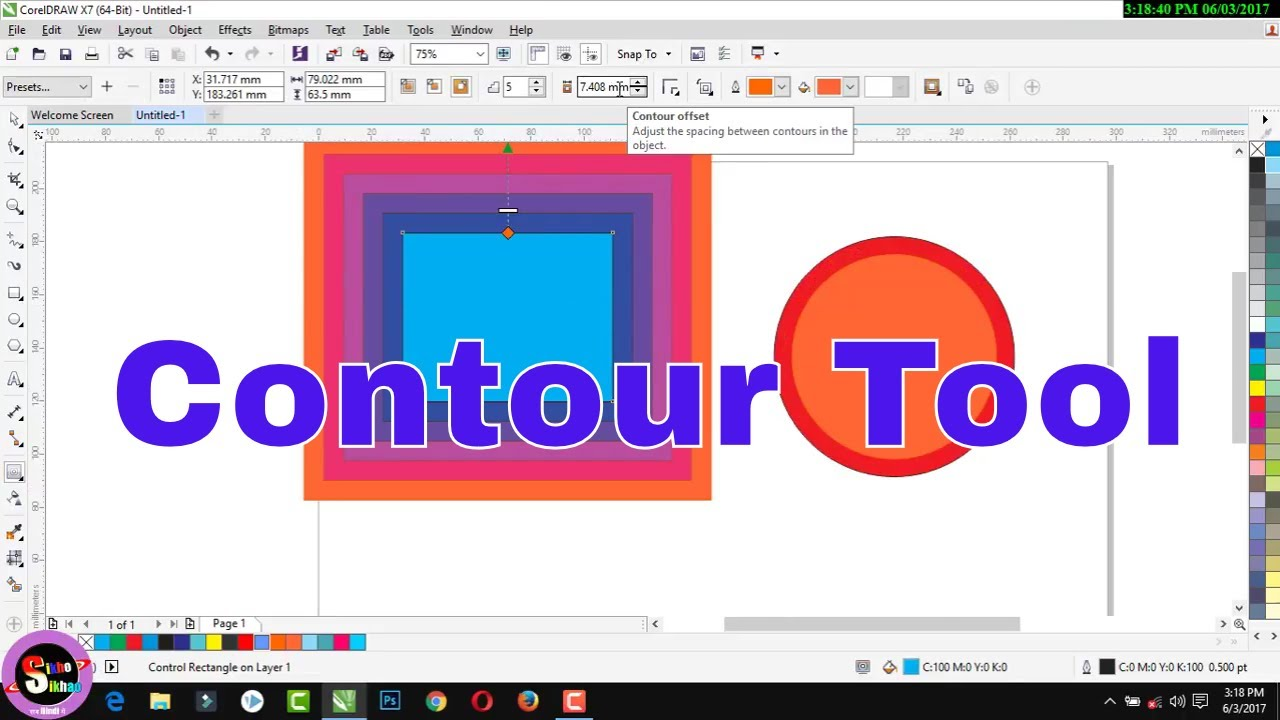 How to use corel draw contour tool hindi video tutorial youtube how to use corel draw contour tool hindi video tutorial ccuart Images