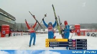 Лыжные гонки и Биатлон в новостях Первого канала