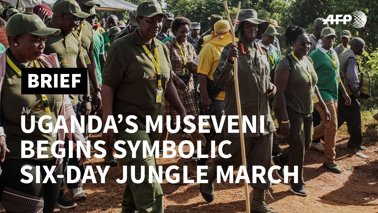 Uganda's Museveni begins jungle march to highlight liberation struggle | AFP