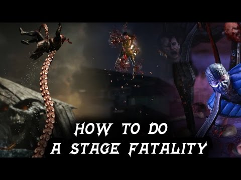 Mortal Kombat X: HOW TO PERFORM A STAGE FATALITY TUTORIAL! ALL CHARACTER INPUTS (MKXL)