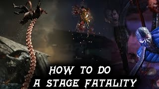 mortal kombat x how to perform a stage fatality tutorial all character inputs mkxl