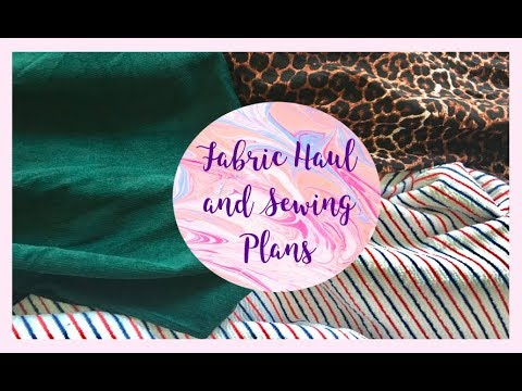 Fabric Haul and Sewing Plans: October and November 2017