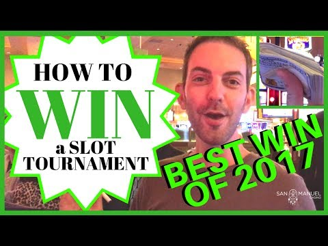 💰 How to Win a Slot Tournament ✦ BIGGEST WIN OF 2017 ✦ San Manuel Casino
