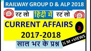 RAILWAY (Group D & ALP)-2018 CURRENT AFFAIRS , RRB 2018 special