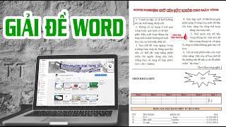 Giải đề Word - Ứng dụng Công nghệ thông tin cơ bản
