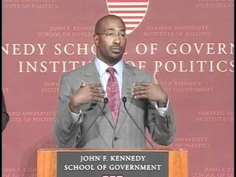 """Rebuild the Dream"" The Next American Economy - A public address by Van Jones"