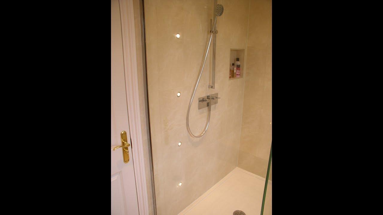 ASP Plumbing Ltd. Matki Shower & LED Wall Lights. - YouTube