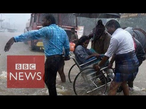 Deadly floods bring Chennai to standstill - BBC News