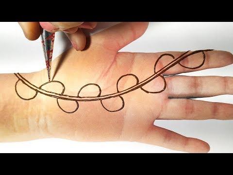 Easy Mehndi Design Trick - New Mehndi Design for Hands - आसान सी मेहँदी लगाए किसी भी शादी, संगीत में