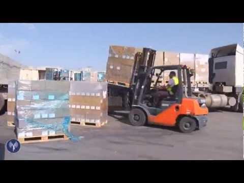 ادخال بضائع  اسرائيلية الى غزة خلال عملية عامود السحاب