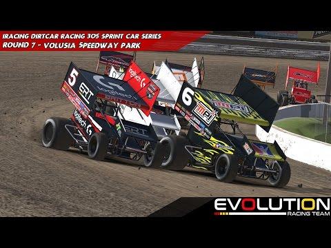 iRacing - DIRTcar - 305 Winged Sprints Week 8 @ Volusia Speedway Park