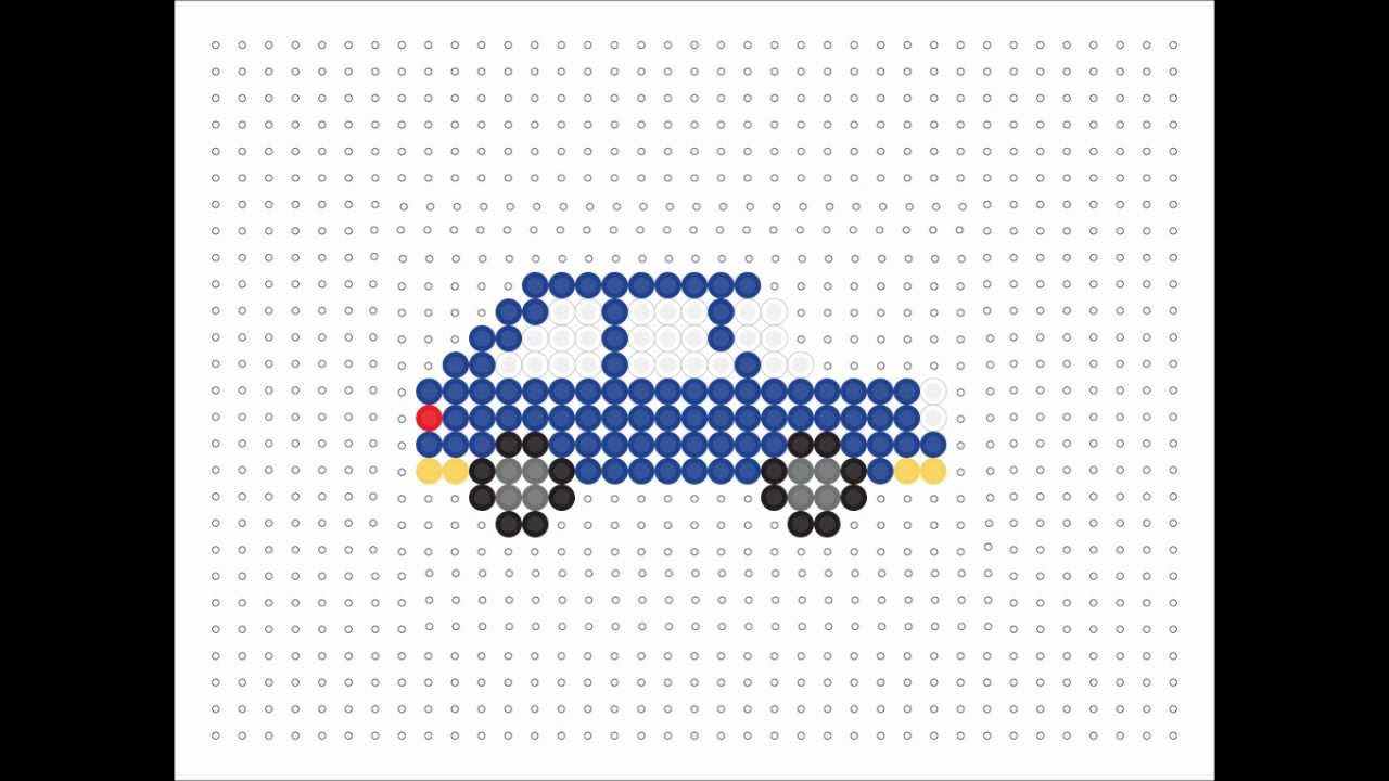 Hama Bead Blue Car Transport Series 11