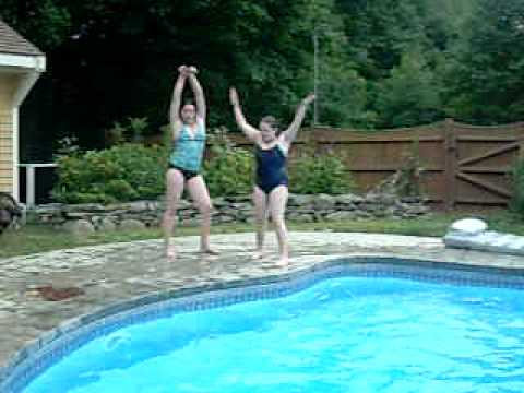 Erin and Heather in the pool again *(Filming also by Julie)