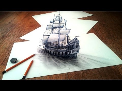 How to Draw a 3D Optical Illusions on paper step by step ...