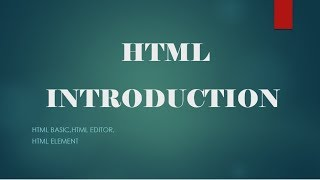 HTML5 tutorial for beginners in hindi |01- html introduction,html basic and html elements