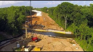 Old Madison Pike Road Construction Overflight:18 June 14