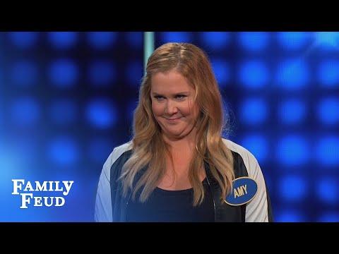 AMY SCHUMER vs BALD HEAD! | Celebrity Family Feud