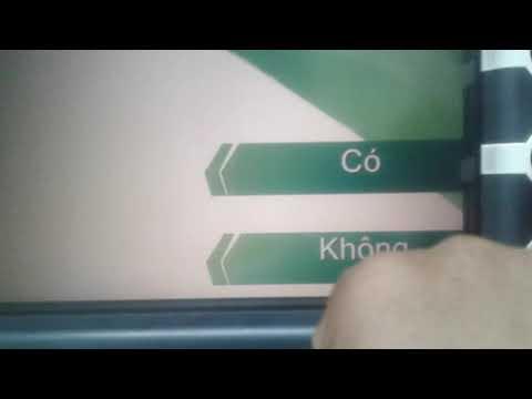 Hướng dẫn cách rút tiền thẻ ATM vietcombank