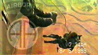 Blackhawk Helicopter 82nd Airborne Rigger Proficiency Jump - Spc. Buczko 05August1999.mpg