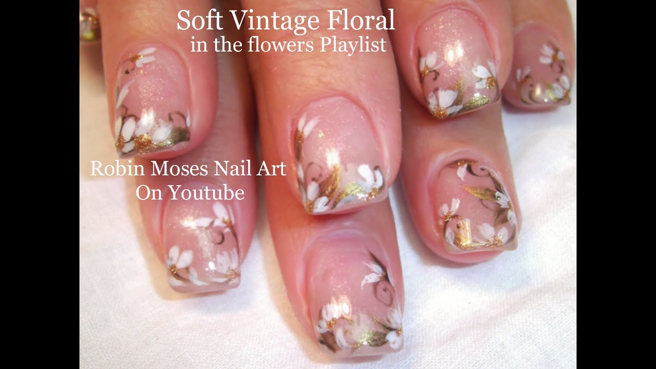 Easy wedding nails white flower nail art design tutorial youtube easy wedding nails white flower nail art design tutorial prinsesfo Gallery