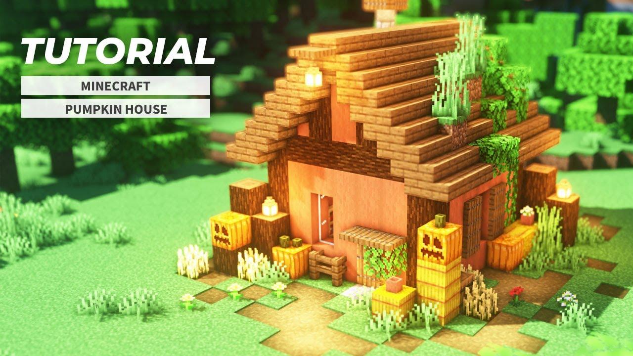 【マインクラフト】カボチャの家の作り方(ハロウィン建築)
