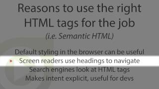 Gambar cover Why to use meaningful HTML tags, also known as semantic HTML